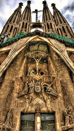 Sagrada Família ,Spain. Ive been lucky to have been here too...  it's beautiful, it's massive and it's absolutely INCREDIBLE!!