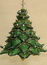 Christmas Tree Ornament Pattern by Paula Adams at Bead-Patterns.com!