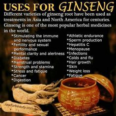 Ginsing sex benefits