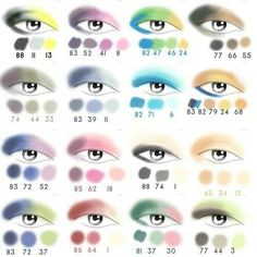 Love this make up pallet of what colors to put together and where to put them on your eyelid.