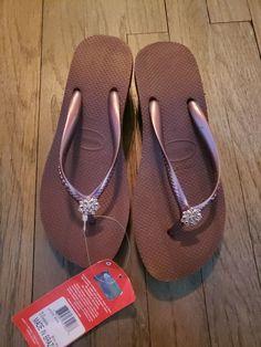 96a7589da06 Havaianas Womens Flip Flops High Fashion Poem Grape Wine Wedge Sandals NWT  6.5  fashion