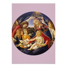 #Madonna of the #Magnificat by #Botticelli #Invitation