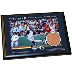 DEREK JETER FENWAY FAREWELL MOMENT 5 Inch X 7 Inch MLB AUTHENTIC GAME USED DIRT PLAQUE ** Check this awesome product by going to the link at the image. (Note:Amazon affiliate link)
