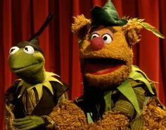 Kermit and Fozzie bear