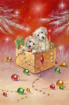 Puppy parcel [pinner's title] -- by Sarah Summers