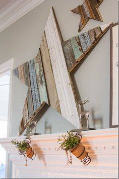 How to DIY a scrap wood star. LOVE this!