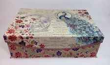 Punch Studio Peacock Nesting Decorative Storage Box Magnetic Flip Top New Bella