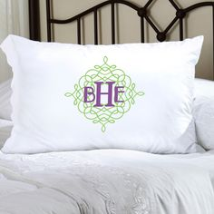 Shop for design nine personalized felicity wistful monogram pillow cases. Blissful sleep and pleasant dreams will be hers with our Personalized Felicity Wistful Monogram Pillow Case. Personalized Pillow Cases, Personalized Gifts, Green Pillow Cases, Monogram Pillowcase, Cloud Pillow, Quilted Pillow Shams, Body Pillow Covers, Cotton Sheet Sets, Trendy Colors