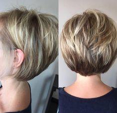 Bob Hairstyles For Fine Hair, Short Bob Haircuts, Short Hairstyles For Women, Hairstyles Haircuts, Cool Hairstyles, Hairstyle Ideas, Stacked Haircuts, Japanese Hairstyles, Korean Hairstyles