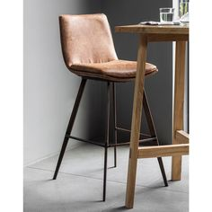 Gallery Palmer Brown Faux Leather Bar Stool, 2 Pack - Crissie Alone Home