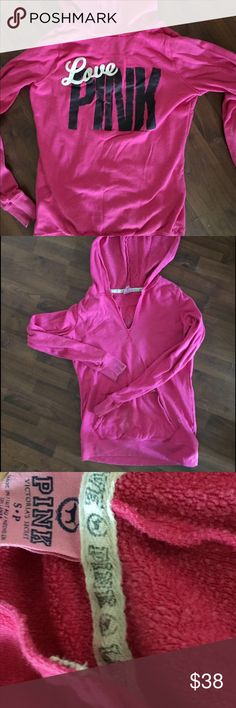 VS PINK hoodie size Small Pink VS hoodie-also have matching sweatpants PINK Victoria's Secret Tops Sweatshirts & Hoodies