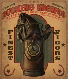 Bucking Bronco Poster - Pictures & Characters Art - BioShock Infinite