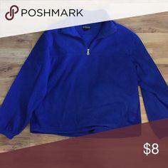 Lands End Blue Fleece Lands End blue half-zip pull over fleece. Super warm and comfy! Good condition. Lands' End Sweaters