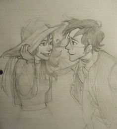 Lily and James being dorks Drawn by burdge