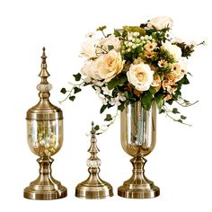 Cheap glass vase decor, Buy Quality vases decoratives directly from China glass vase Suppliers: Flower vase bronze Tall glass vases Decoration vase Candy jar Tapletop vases decorations Living room decoration