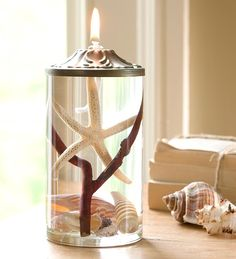 Cylinder #Seashell Lifetime #Oil #Candle