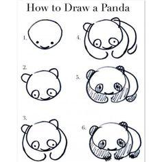 Como dibujar un panda en sencillos pasos
