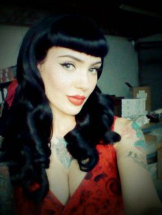 Love her hair...I need s good black dye, mine never stays black like this