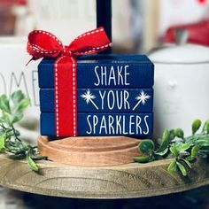 4th July Crafts, Fourth Of July Decor, 4th Of July Celebration, 4th Of July Decorations, Patriotic Crafts, July 4th, Americana Crafts, Wood Book, Happy 4 Of July