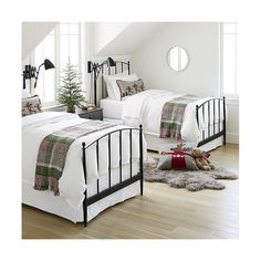 Shop Mason Twin Bed.  Designed by Royce Nelson, the Mason Twin Bed is a Crate and Barrel exclusive.