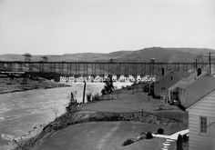 Backyards from Engineers Town, Grand Coulee Construction, 1939 Grand Coulee Dam, Mason City, Backyards, Engineering, Construction, Outdoor, History, Building, Outdoors