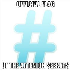 Official flag of the attention seekers. Picture Quotes.