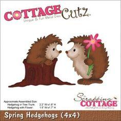 """CottageCutz Die 4""""X4""""-Spring Hedgehogs"""