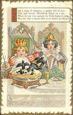 Nursery Rhymes Poems, Rhymes Songs, Nursery Rymes, Bird Nursery, Tarot, Pomes, Children's Book Illustration, Book Illustrations, Vintage Nursery