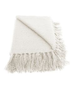 Take a look at this Cream Liz Throw on zulily today!