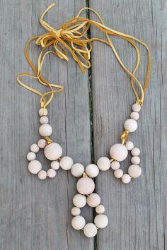 DIY necklace inspired by Anthropology #DIYSaturday #laurloosdesign