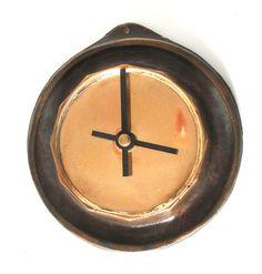 "Lost Wax Cast   Bronze Wall Clock 5"" Original Decorative Sculpture Fine Art, www.springgallerymaine.com, www.modernartfoundry.com"