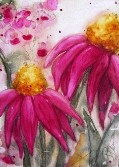 Original Floral Watercolor Painting of by dawndermanart on Etsy