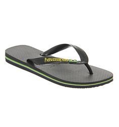 82983e6720b394 Havaianas Brazil Logo Flip Flop Black - Sandals