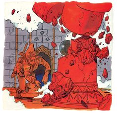 Curiosities: The Legend of Zelda Original Concept Art. When The Legend of Zelda first appeared a couple of decades ago, artist Katsuya Terada created these amazing concept artworks for the first few games that appeared in player's guides and in Nintendo Power magazine.  Although it differs greatly from the Zelda that evolved on later systems, it's a fascinating look into the series' early roots.