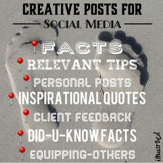 Creative posts for social media