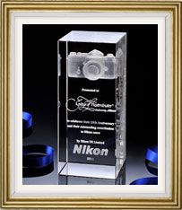 Presented to Grays of Westminster to celebrate their 25th Anniversary and their outstanding contribution to Nikon users in 2011 - From Nikon UK.