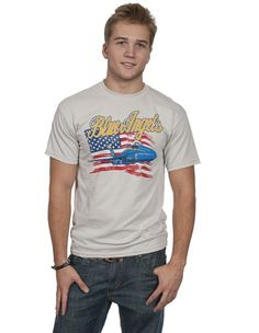 Blue Angels/American Flag T-shirt | National Naval Aviation Museum | NavalAviation.com