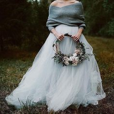 Up next is a wedding dress inspiration t - - Tulle Wedding Skirt, V Neck Wedding Dress, Blue Wedding Dresses, Wedding Attire, Wedding Flowers, Wedding Dress Separates, Bridal Separates, Cozy Wedding, Wedding Ideas