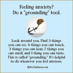 """Obj: To be able to """"ground"""" self while feeling anxious or nervous.  Pop: Anxiety disorder patients, Autism patients, Bipolar patients, Dementia patients experiencing anxiety. Time: less than 5 minutes"""