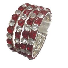 Deep red with white rhinestone bangles by zubiacollections on Etsy https://www.etsy.com/listing/257893388/deep-red-with-white-rhinestone-bangles