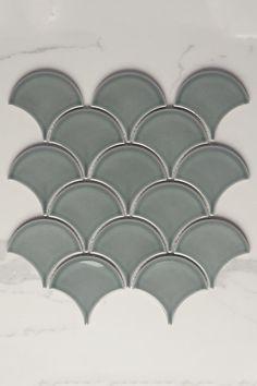 Code: TT0092 Colour: Jade Green Finish: Gloss Type: Mosaic Material: Ceramic Size: 73mm Concave Shape: Fish Scale Look: Fish Scale Look Sheet Size: 259mm x 273mm Walls: Bathroom Walls, Kitchen Splashback, Feature Walls Mosaic Tiles, Wall Tiles, Mosaics, Fish Scale Tile, Kings Island, Fish Scales, Outdoor Flooring, Splashback, Refurbished Furniture