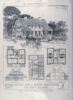 American wooden buildings, played a large role in spreading the popularity of traditional American styles in the first half of the 20th century.  Therefore, the Prairie style house above, by Russell Barr Williamson who had spent a few years working in Frank Lloyd Wright's office