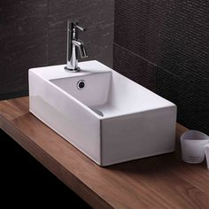 Small Counter Top Basins : Indulge in the stunning Coco Rectangular Counter Top Basin for small ...