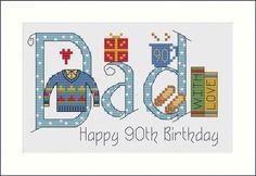 Dad Cross Stitch Card Kit £9.80 | Past Impressions | Nia