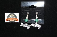 Army Earrings by CraftySquirrelDesign on Etsy