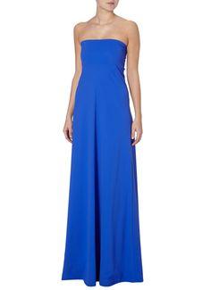 LaDress Saint strapless jurk blauw • de Bijenkorf