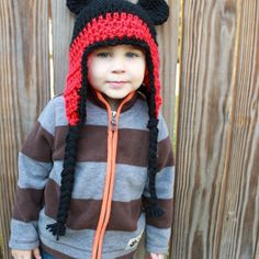 $25.00  Crochet hats Mickey and Minne Mouse