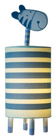 Blue Zebra Childrens lamp is in the form of a cute endearing blue zebra. The designs are printed by hand on well-built, fire-retardant coated rice paper.