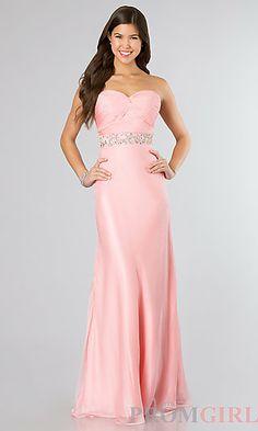 Floor Length Strapless Sweetheart Dress at PromGirl.com