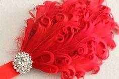 Baby Headband Photo Prop  Feather's and Rhinestone's by JennCannon, $14.99
